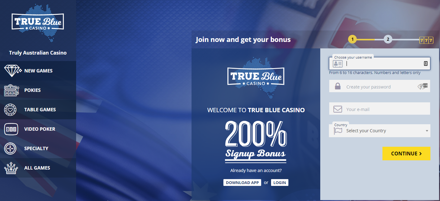 True Blue Casino home