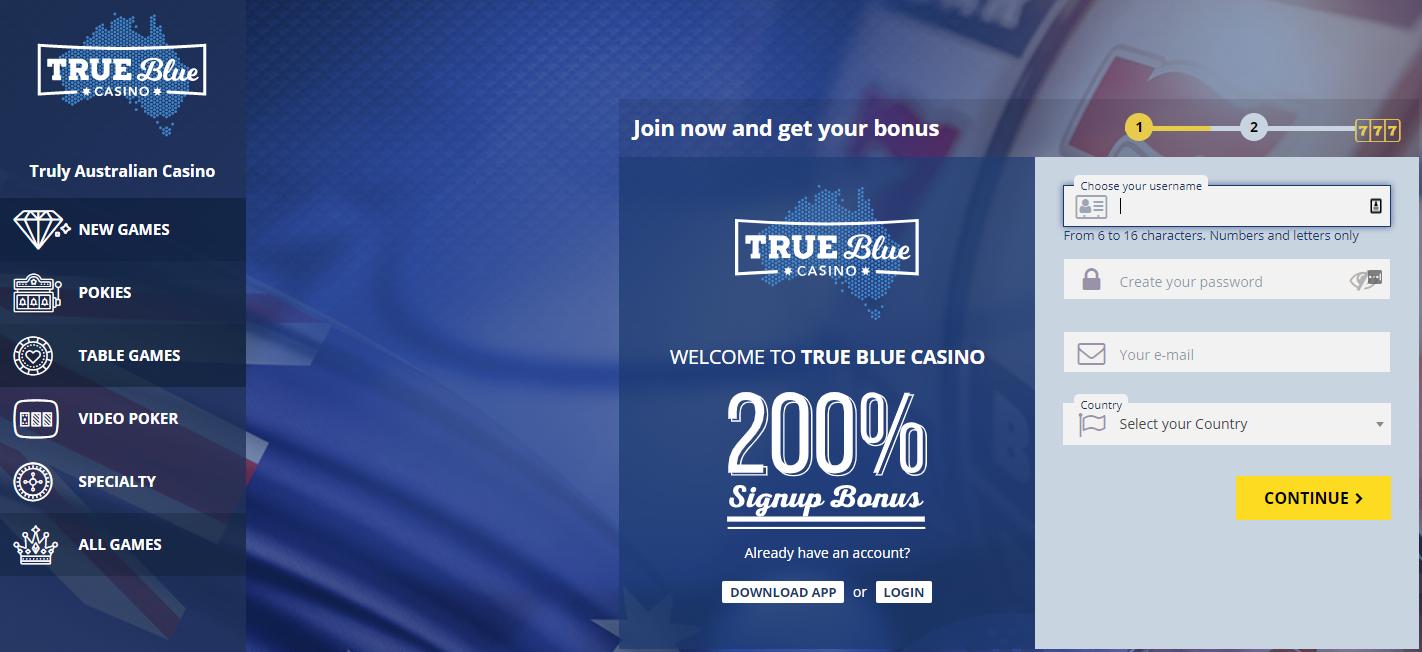 True Blue Casino home